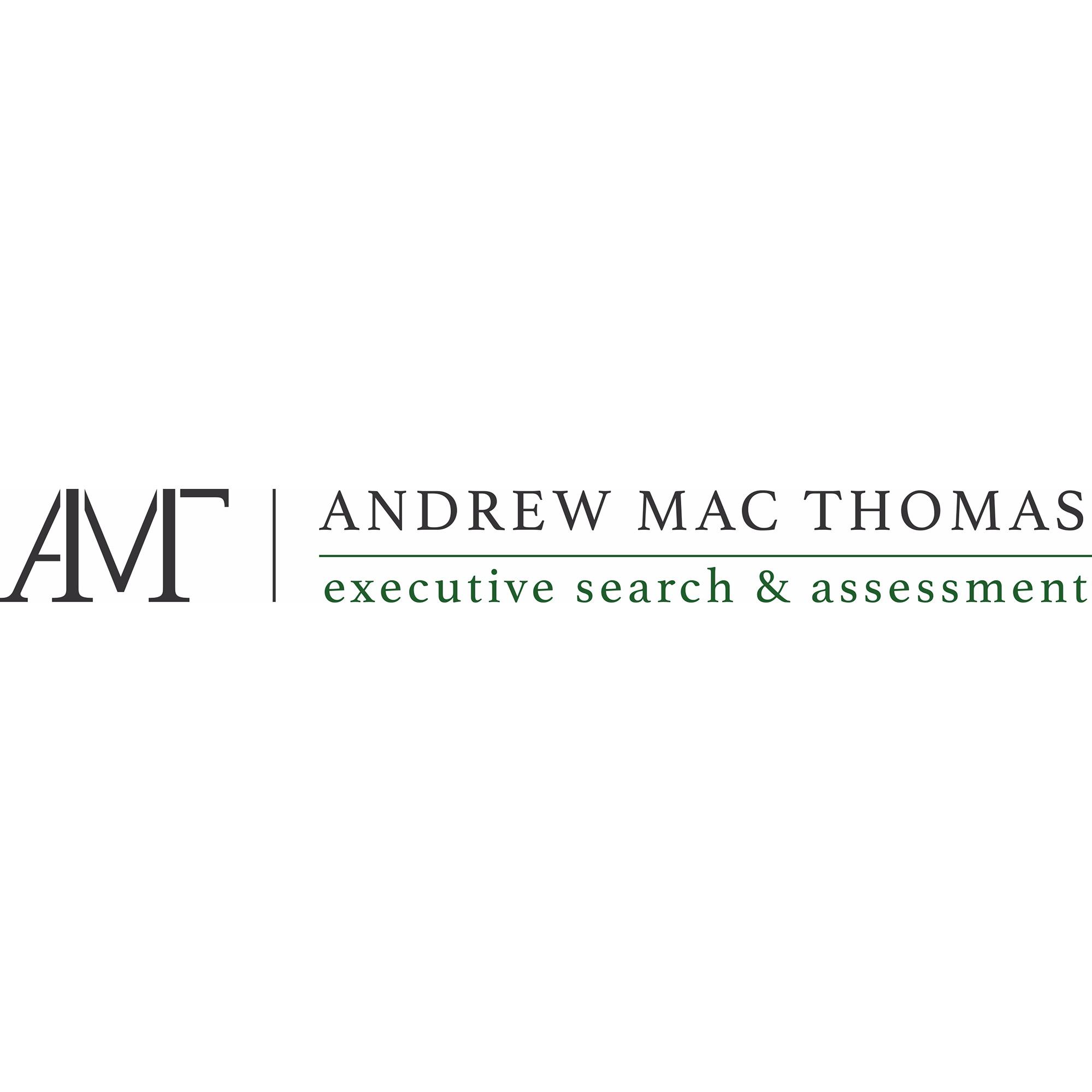 the Andrew Mac Thomas logo.