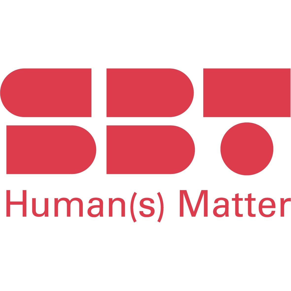 the SBT - HUMAN(S) MATTER logo.