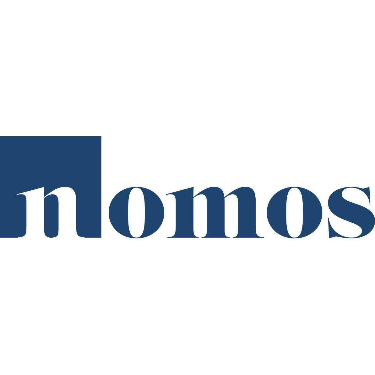 the Nomos logo.