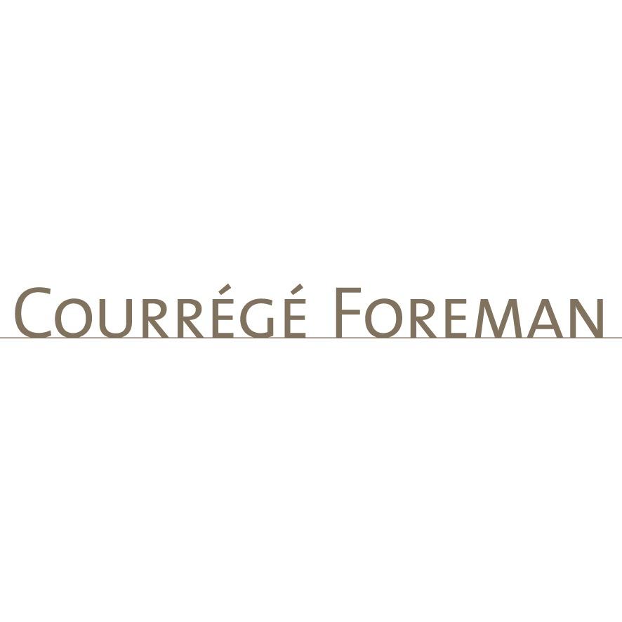 the Courrégé Foreman logo.