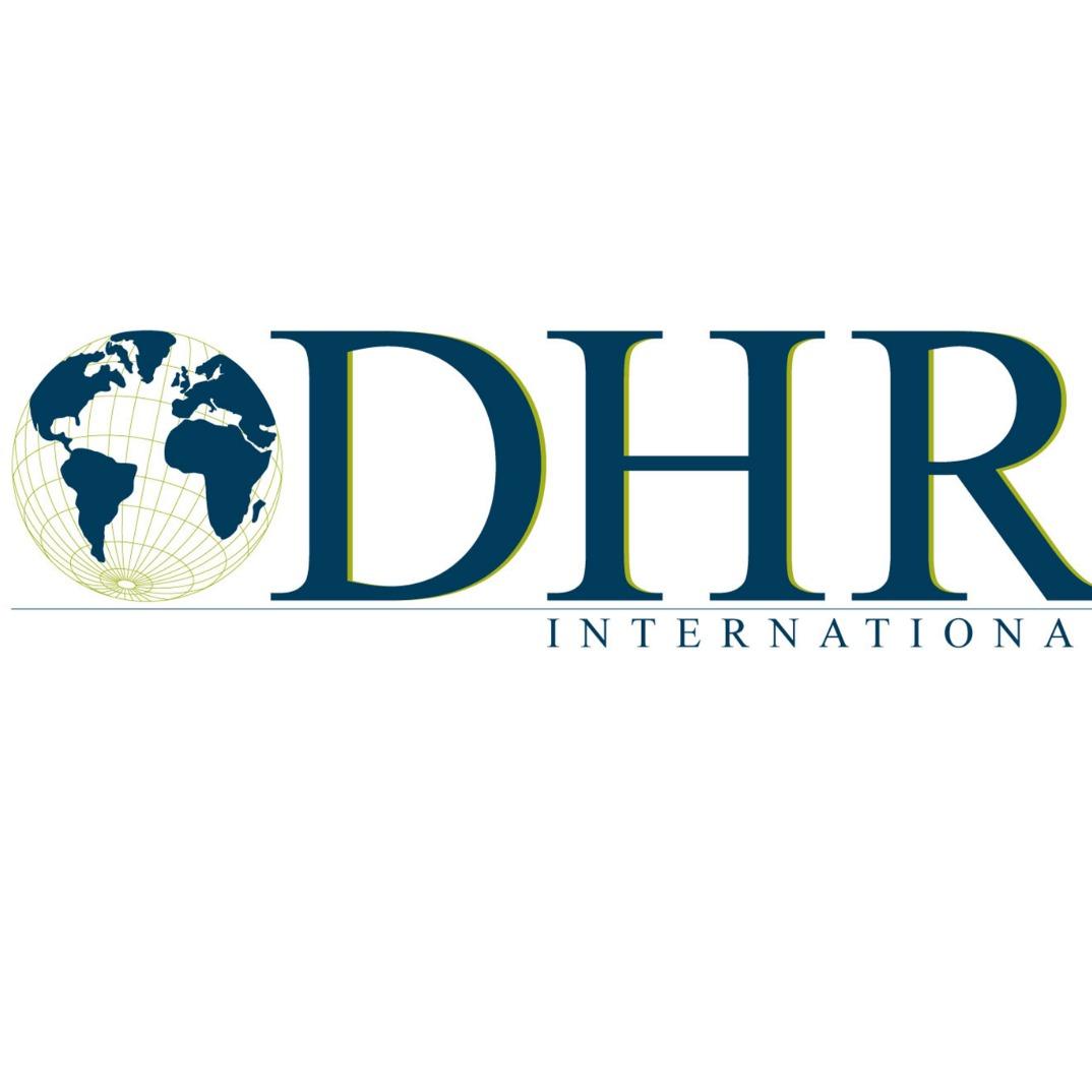 the Dhr International logo.
