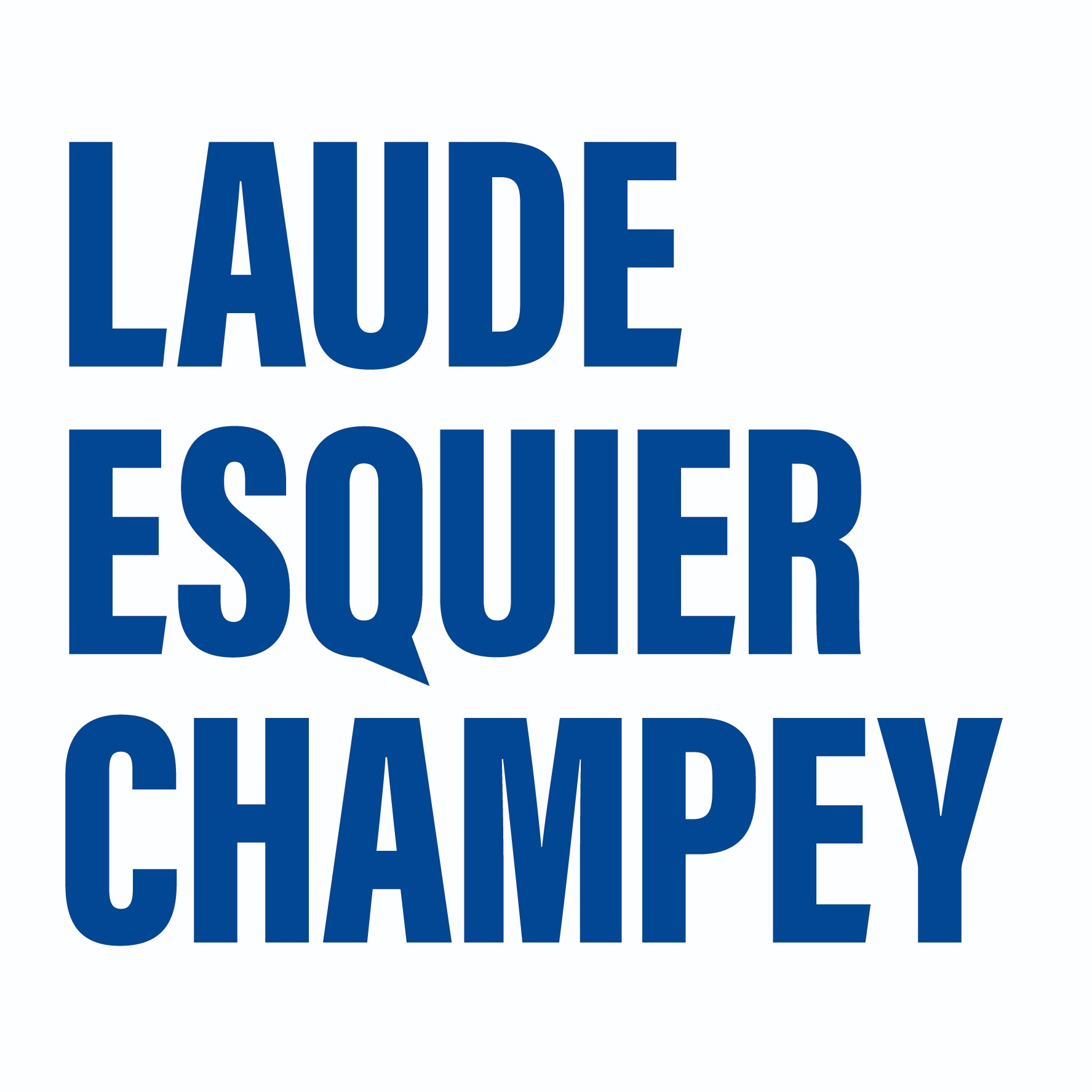 the Laude Esquier Champey logo.