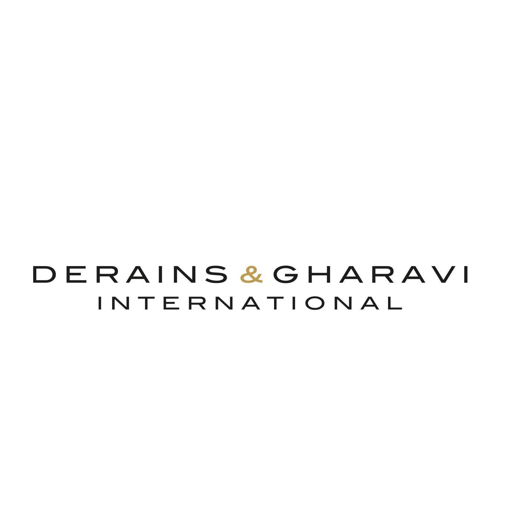 the Derains & Gharavi logo.