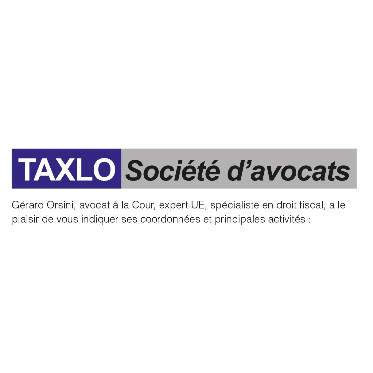 the Taxlo logo.
