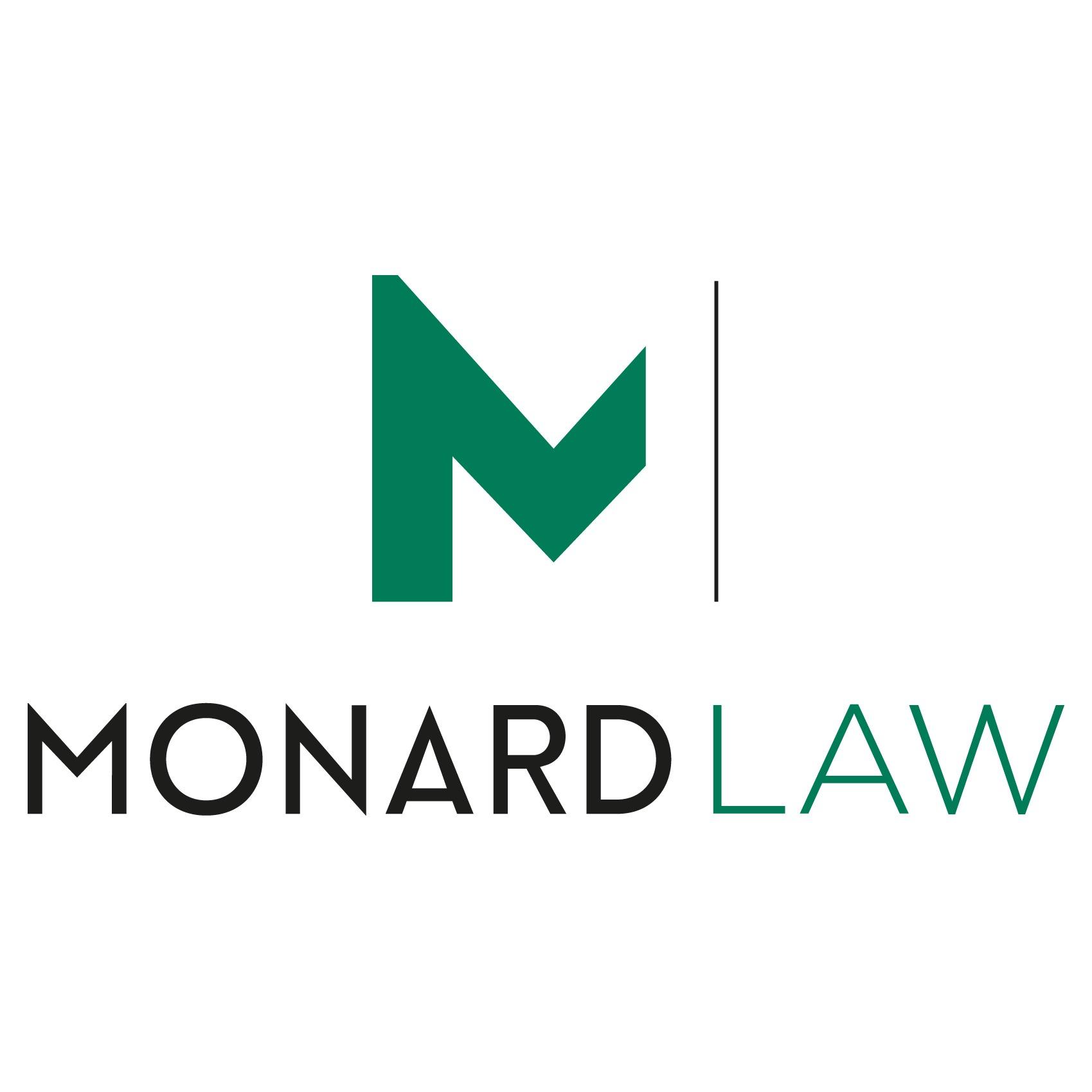 the Monard Law logo.