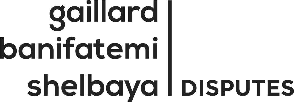 the Gaillard Banifatemi Shelbaya Disputes logo.