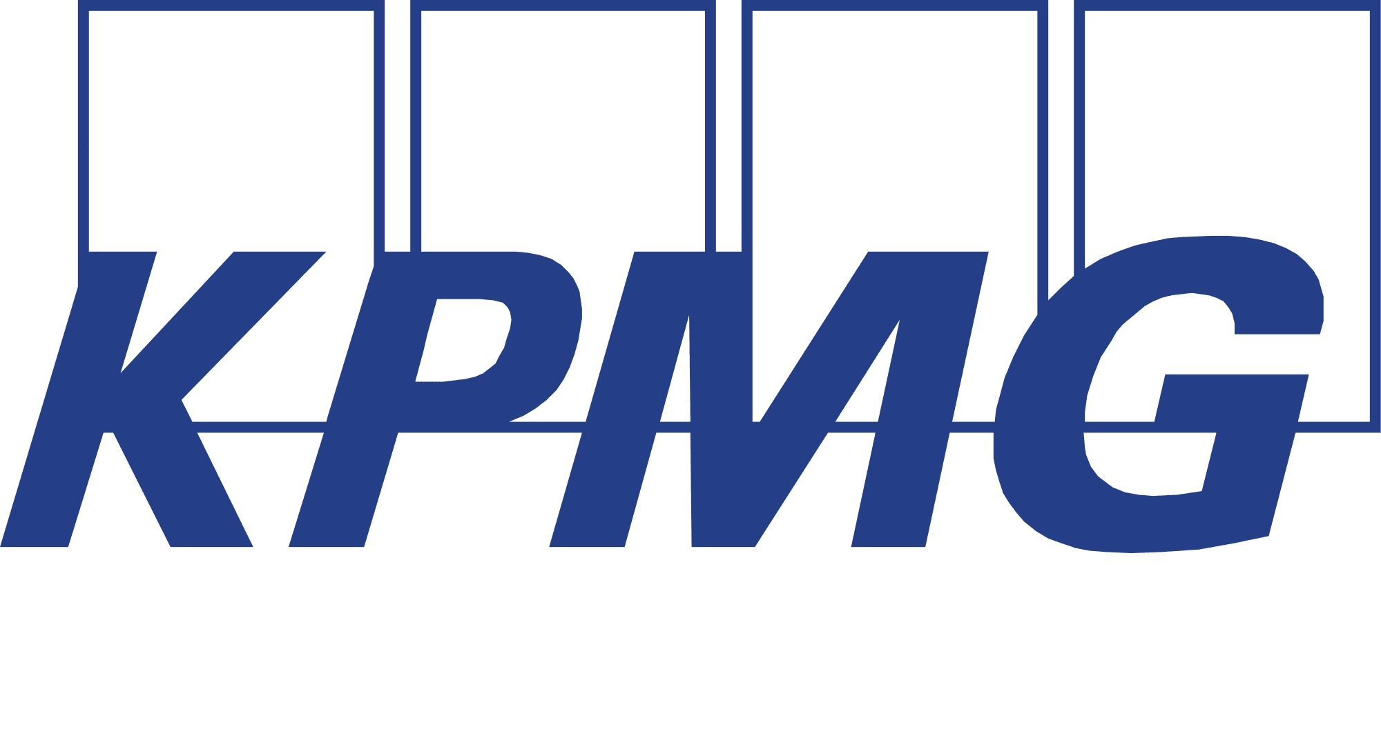 the KPMG logo.
