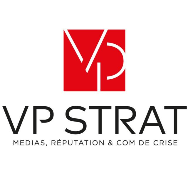 the Vp Strat & Com logo.