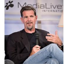 Reed Hastings, scion of a wealthy East Coast family, is running a business that is half Hollywood, half Silicon Valley.