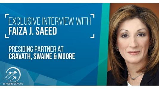 An interview with Faiza Saeed