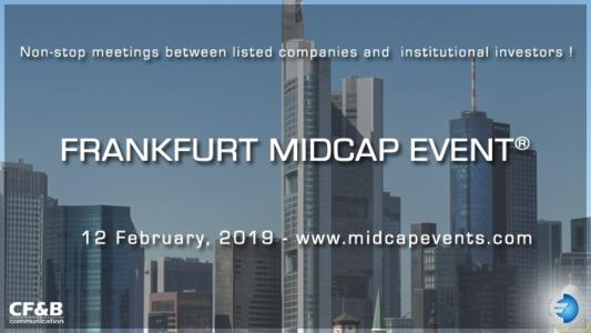 On February 12th 2019, CF&B Communication is organizing the 12th edition of the Frankfurt European MidCap Event, where selected Midcaps travelling to European financial capitals will stop off in Franckfurt to meet the attending institutional investors.