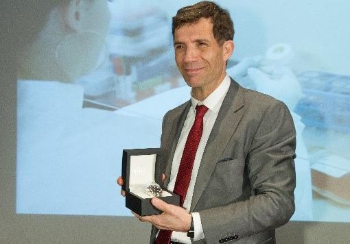 André Choulika, le fondateur et P-DG de Cellectis, a remporté le prix Marius Lavet édition 2017 pour son travail de recherche sur l'ADN.