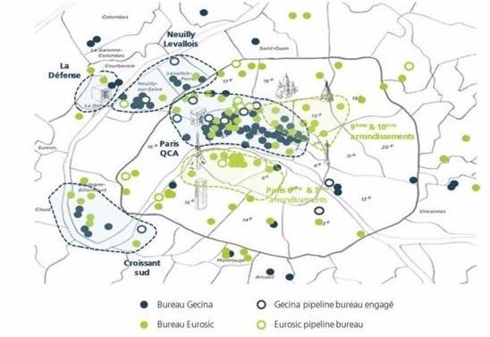 Gecina a annoncé le rachat « amical » pour trois milliards d'euros de l'ensemble des titres d'Eurosic. La foncière devient le quatrième propriétaire immobilier européen à la tête d'un portefeuille de 19,3 milliards d'euros.
