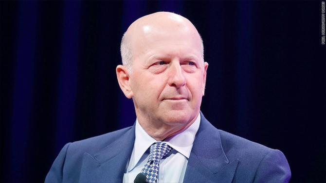 Goldman Sachs nomme ce 17 juillet 2018 David Solomon, banquier d'affaires, 56 ans, en tant que nouveau CEO.
