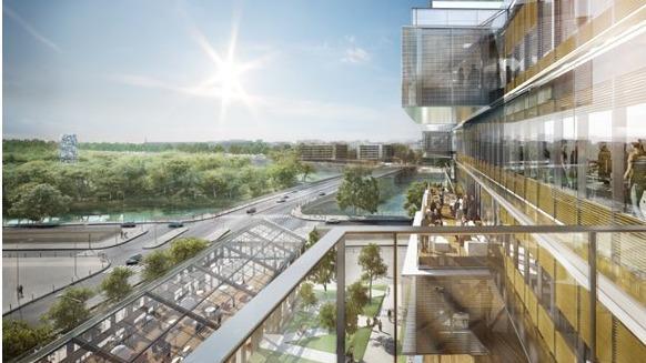 Le P-DG d'Orange, Stéphane Richard a lancé la construction du nouveau siège de l'entreprise. Situé à Issy-les-Moulineaux, l'immeuble « Bridge » devrait ouvrir ses portes courant 2020.