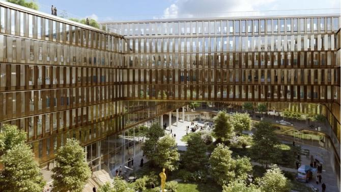 Axa im real assets lance la construction de stories - Bureau de poste saint ouen ...