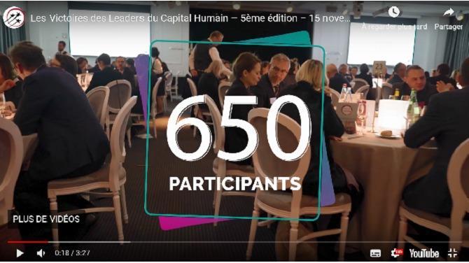 Le 15 novembre 2018 se tenait la cinquième édition des Victoires des Leaders du Capital Humain au Pavillon d'Armenonville, à Paris.