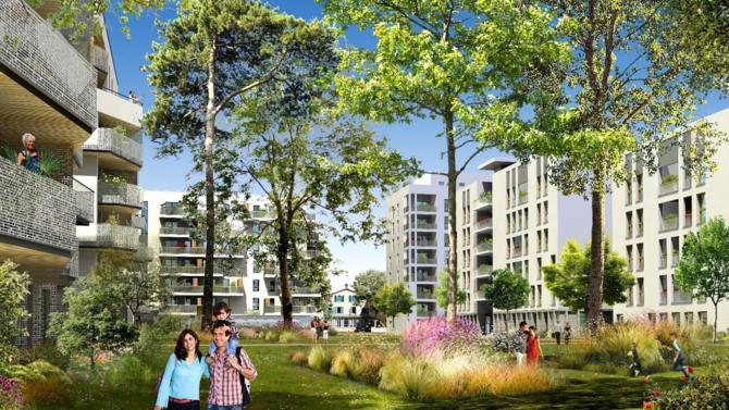 Les dirigeants de Vinci et les principaux élus de la métropole lyonnaise ont posé la première pierre du programme OASIS Parc.