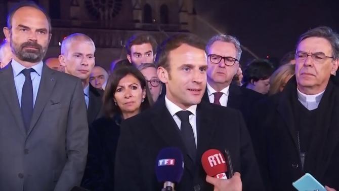 Lundi 15 avril, le Président Macron adressait, comme prévu, un message aux Français. Il le faisait non pas dans une allocution enregistrée de son bureau de l'Élysée mais en direct du parvis de Notre-Dame où des centaines de pompiers luttaient encore contre l'incendie, et non pas pour parler Gilets jaunes et Grand Débat, mais espérance et reconstruction.
