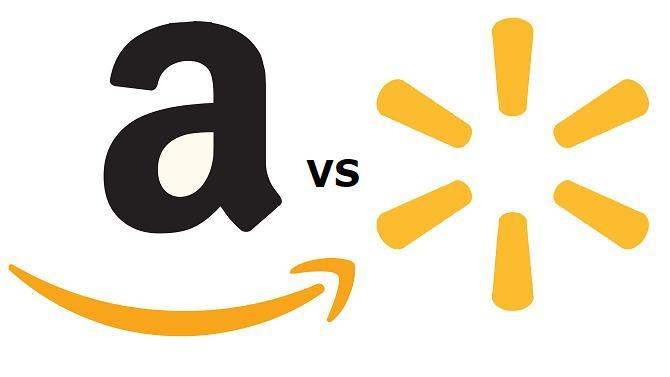 In the blue corner, hailing from Bentonville, Arkansas, the world's largest company by revenue, Walmart. In the red corner, out of Seattle, Washington, the nimble e-commerce money-making machine, Amazon. The match between these two retail giants is a clash of styles and generations. Here's the tale of the tape.