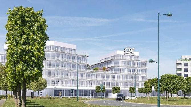 La première pierre du futur site du Crédit Agricole Brie Picardie à Chessy a été posée mardi 16 avril. Un projet qui va participer à la concrétisation du projet d'entreprise de la caisse régionale. Visite (virtuelle) guidée.
