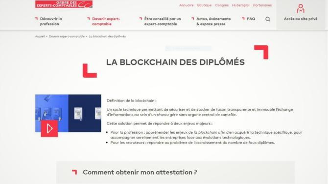 L'ordre des experts comptables exploite la technologie blockchain pour certifier les diplômes d'expertise comptable.