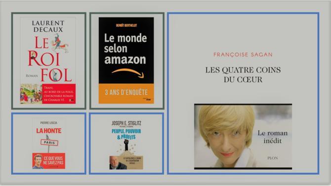 Un Françoise Sagan surprenant, le dernier Stiglitz, une enquête sur le système Amazon, un roman historique et un livre politique. Voici les ouvrages qui retiennent l'attention de la Rédaction.