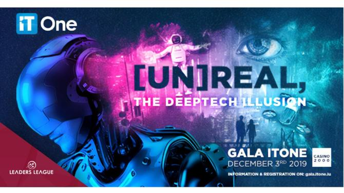 """Each December, ICT sector professionals and technical experts gather to attend the Gala IT One event. This year's edition is entitled """"[Un]real: the DeepTech Illusion"""" and consists of a conference session and the traditional Luxembourg ICT Awards. The event will take place on December 17th at Casino 2000 in Mondorf-les-Bains."""