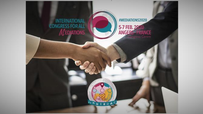 Angers accueillera du 5 au 7 Février 2020 le congrès international de toutes les médiations au Centre de Congrès !