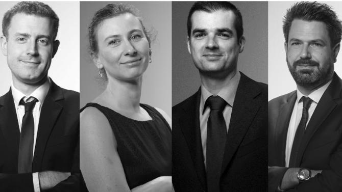 Yann Debrit, Marion Fauré, Frédéric Glaize et Laurent Nowak deviennent associés du cabinet de conseil en propriété industrielle Plasseraud IP.