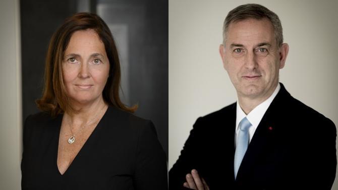 Jean-Marc Ribes, président du directoire, et Aurélie Tristant, membre du directoire de la banque BPE, la banque privée du Groupe La Banque Postale explique la stratégie de développement menée par la BPE.