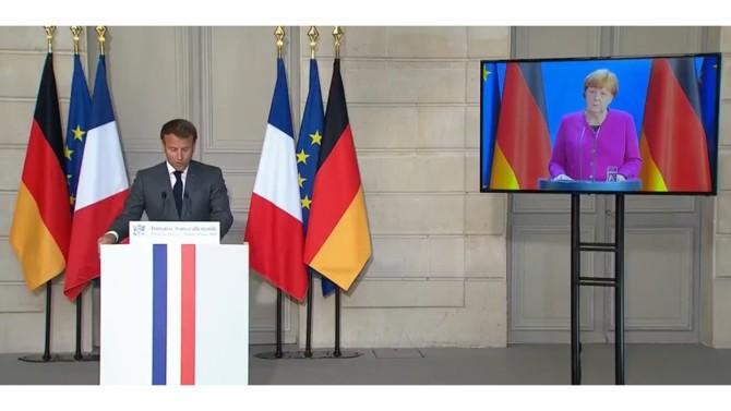 Ce lundi 18 mai 2020, Angela Merkel et Emmanuel Macron ont annoncé, lors d'une conférence de presse commune, avoir trouvé un accord sur la création d'un fonds de relance inédit. La Commission européenne doterait ce fonds de relance de 500 milliards d'euros afin d'aider les régions et les secteurs les plus touchés par la crise du coronavirus.