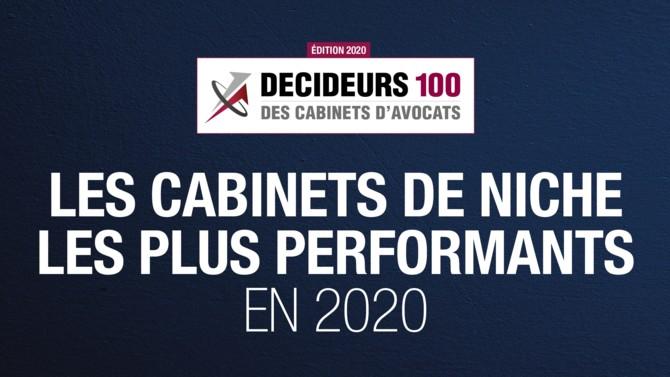 Parmi les 100 premiers cabinets d'avocats en France, 12 sont des structures positionnées sur une seule matière ou un seul secteur. Leur performance est au rendez-vous.