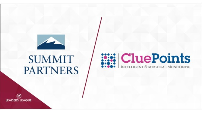 CluePoints, a provider of risk-based study execution and data quality oversight software for clinical trials, has teamed up with Summit Partners.
