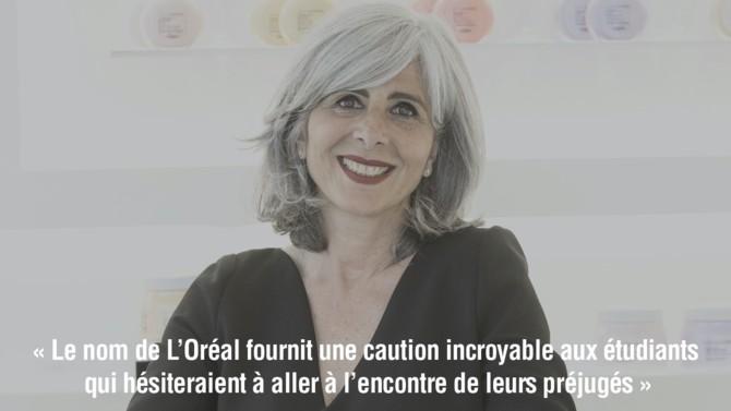 Directrice générale de la division des produits professionnels de L'Oréal et membre du comex, Nathalie Roos est à l'initiative de Real Campus, une école bien dans son époque.