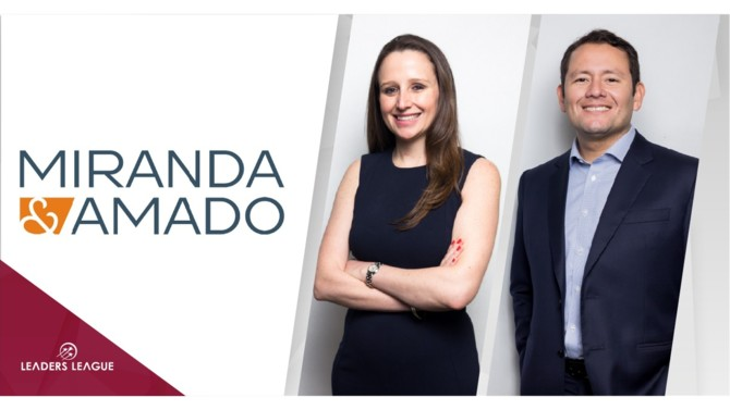 Peruvian law firm Miranda & Amado has bolstered its natural resources and infrastructure projects and labor practices with the promotion to partner of Isabel Lira and Carlos Cadillo respectively.