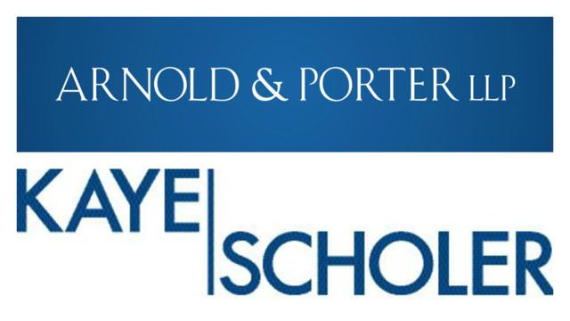 Arnold & Porter Set to Merge With Kaye Scholer