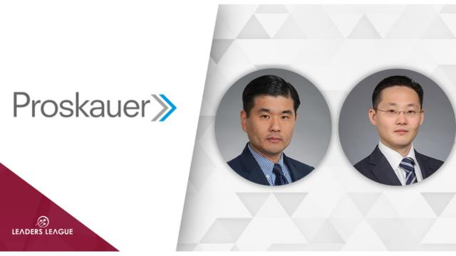 Proskauer recruits K&L Gates private equity duo James Lee and Jae Woo Park
